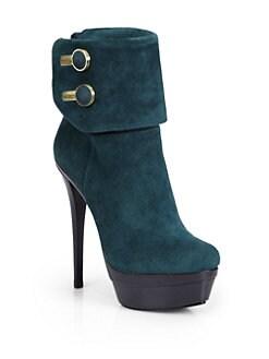 Rachel Zoe - Dora Kid Suede Double Platform Ankle Boots