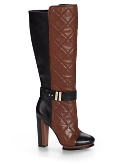Rachel Roy - Eva Colorblock Quilted Leather Tall Boots
