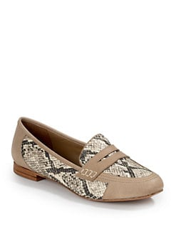 Candela - Embossed Snakeskin Loafers