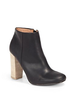 Joie - Bright Fire Leather High Heel Ankle Boots