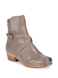 Joie - Jackson Woven Leather Trim Ankle Boots