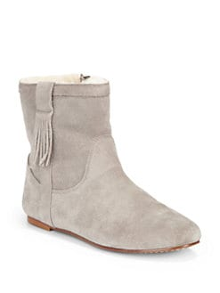 Joie - Moondance Suede Flat Ankle Boots