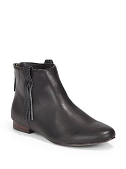 Joie - Genesis Fringed Leather Ankle Boots