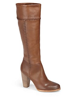 Joie - Allman Whipstitched Leather Platform Boots