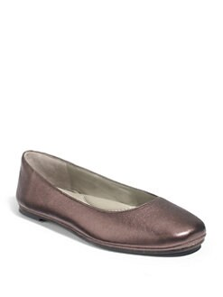 Eileen Fisher - Metallic Leather Ballet Flats/Bronze