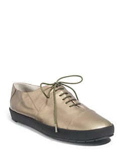 Eileen Fisher - Mingle Metallic Napa Sneakers