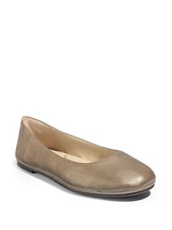 Eileen Fisher - Metallic Leather Ballet Flats/Pyrite