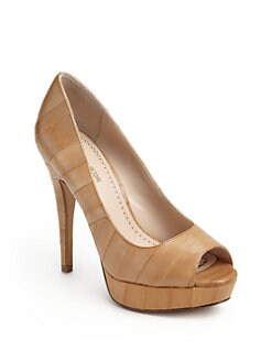 Pour La Victoire - Angelie Eel-Embossed Leather Pumps