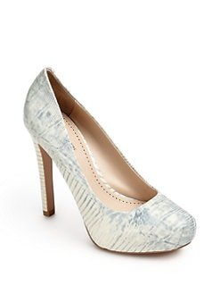 Pour La Victoire - Gilliana Snakeskin-Embossed Leather Pumps
