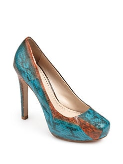 Pour La Victoire - Gilliana Lizard-Embossed Leather Pumps