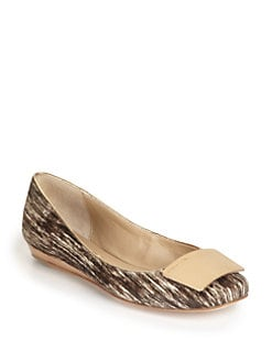 BCBGMAXAZRIA - Marila Striped Pony Hair Ballet Flats