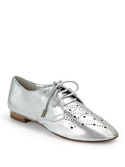Candela - Perf Diado Oxford Flats/Silver