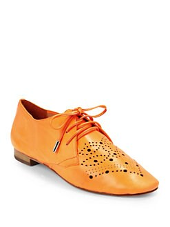 Candela - Perf Diado Oxford Flats/Orange