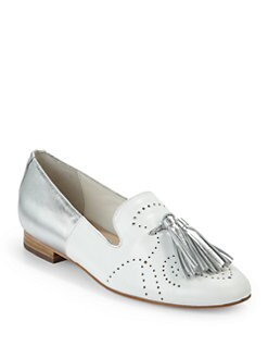 Candela - Austin Two-Tone Loafers/White & Silver