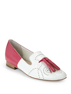 Candela - Austin Two-Tone Loafers/White & Pink