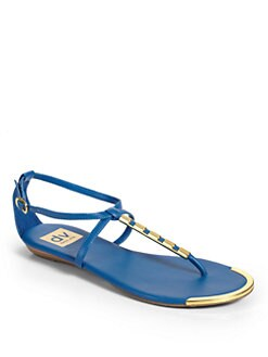 DV by Dolce Vita - Arty Open Metal T-Strap Sandals/Blue