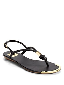 DV by Dolce Vita - Alto Metal Knot Thong Sandals/Black