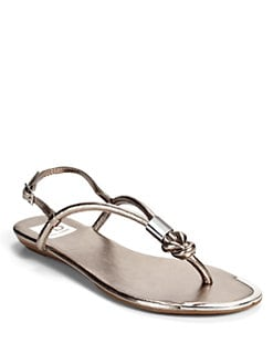 DV by Dolce Vita - Alto Metal Knot Thong Sandals/Pewter