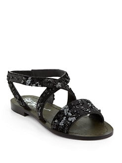 Alice + Olivia - Brandy Sequin Sandals