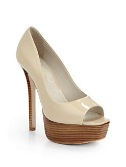Alice + Olivia - Laird Patent Leather Platform Pumps