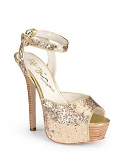 Alice + Olivia - Lansey Course Glitter Platform Sandals