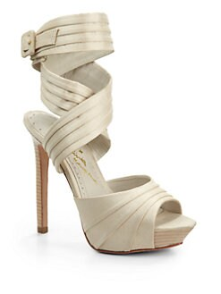 Alice + Olivia - Lisa Habotai Wrap-Around Platform Sandals
