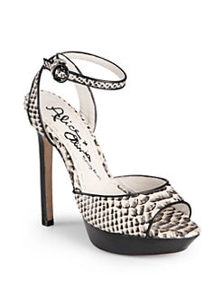 Alice + Olivia - Landon Snakeskin-Embossed Platform Sandals