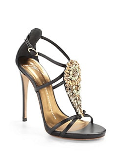 Giuseppe Zanotti - Jeweled Teardop High Heel Sandals