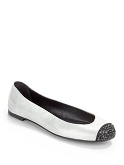 Giuseppe Zanotti - Strass Cap Toe Ballet Flats