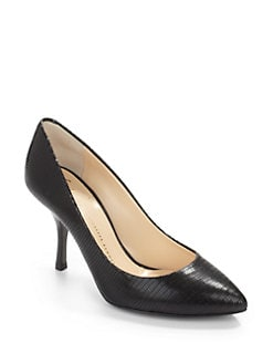 Giuseppe Zanotti - Lizard-Embossed Leather Pumps