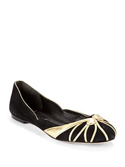 B Brian Atwood - Castella Swirl Suede Flats