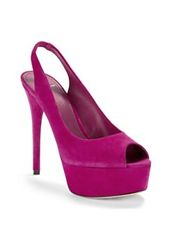 B Brian Atwood - Beatris Suede Slingback Pumps