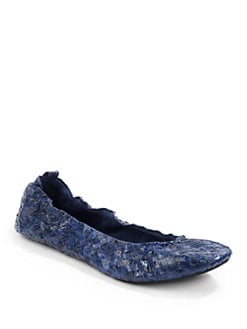 Beirn - Woven Watersnake Ballet Flats