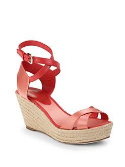 Elie Tahari - Rita Raffia Wedge Sandals