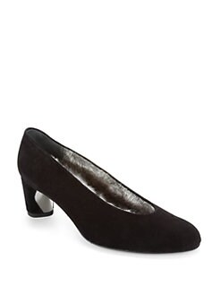 Stuart Weitzman - Fur Chic Suede Pumps