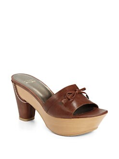 Stuart Weitzman - Slavic Leather Platform Clogs