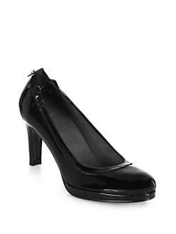 Stuart Weitzman - Roller Patent Leather Pumps