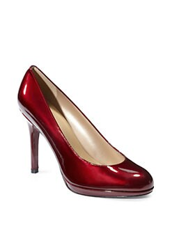Stuart Weitzman - Platswoon Patent Leather Platform Pumps/Fire