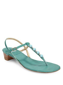 Stuart Weitzman - Julie Embellished Thong Sandals