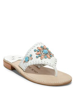 Jack Rogers - Gem Snap Thong Sandals/White