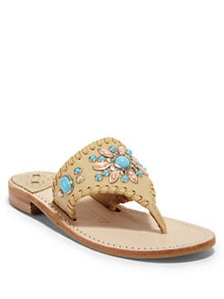 Jack Rogers - Gem Snap Thong Sandals/Camel
