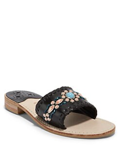 Jack Rogers - Gem Slide Sandals/Black