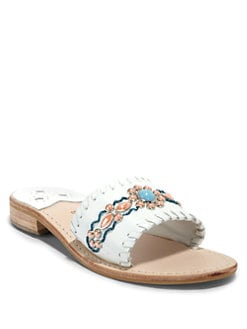 Jack Rogers - Gem Slide Sandals/White