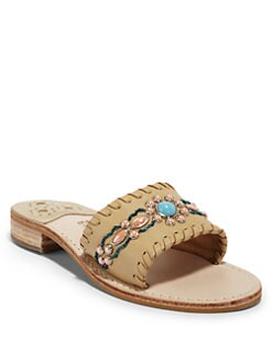 Jack Rogers - Gem Slide Sandals/Camel