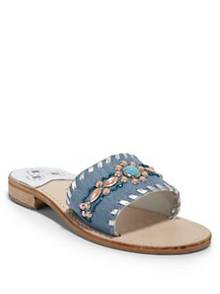 Jack Rogers - Gem Denim Slide Sandals