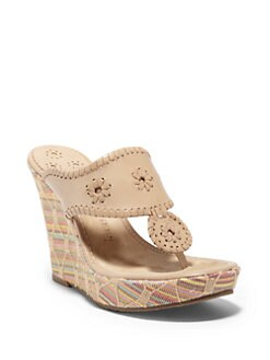 Jack Rogers - Marbella Jute Wedge Sandals/Tan