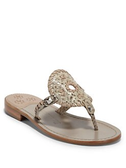 Jack Rogers - Georgica Python Thong Sandals/Smoke