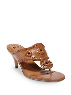 Jack Rogers - Maggie Mid-Heel Thong Sandals/Brown