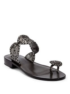 Jack Rogers - Santa Fe Toe-Ring Sandals/Pewter