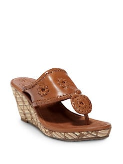 Jack Rogers - Straw Wedge Sandals